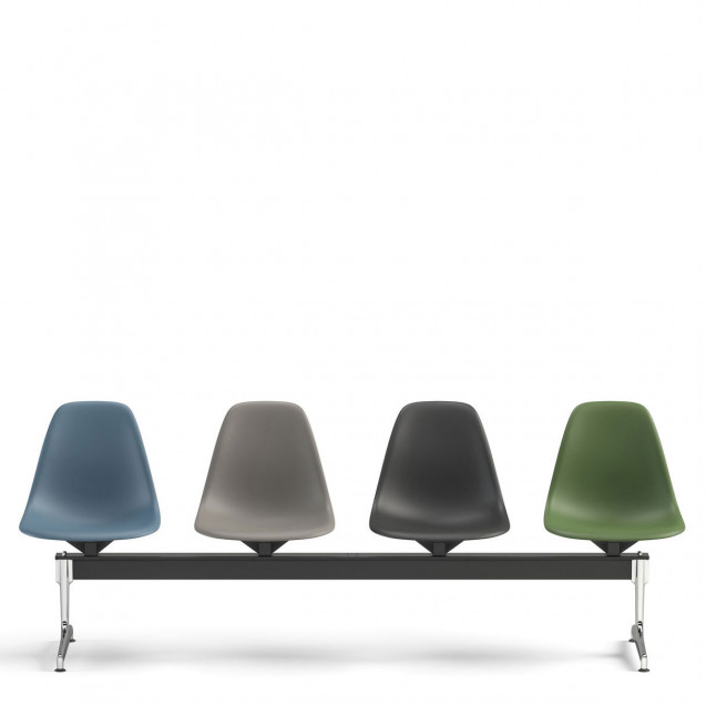 Eames Plastic Chair & Armchair beam seating